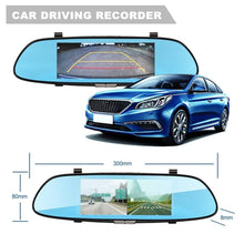 "Load image into Gallery viewer, 7"" New Touch screen Dual Lens Car DVR 1080P Dash Cam Reversing Rear Camera Mirror Video Recorder"