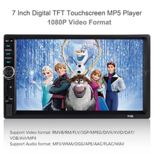 "Load image into Gallery viewer, Car 7"" Bluetooth MP5 Player Touch Screen Airplay Android Screen Mirror Stereo Radio"