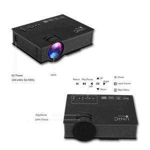 NEW WiFi Projector HDMI VGA Ezcast Airplay Connect to Smartphone Apple Android