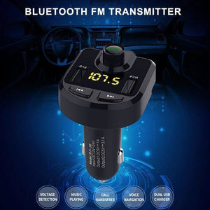 Car MP3 Player FM Transmitter with Dual USB Ports 3.1A Quick Charge Supports 32GB MINI SD card