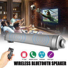 Load image into Gallery viewer, TV Sound Bar Wireless Bluetooth Speaker Soundbar Channel 2.0 With Built-In Subwoofer Remote Control