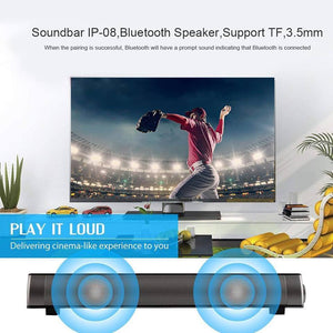TV Sound Bar Wireless Bluetooth Speaker Soundbar Channel 2.0 With Built-In Subwoofer Remote Control
