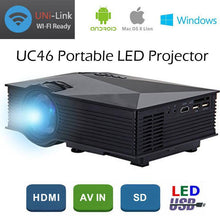 Load image into Gallery viewer, NEW WiFi Projector HDMI VGA Ezcast Airplay Connect to Smartphone Apple Android