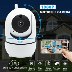 🎥🏠🏪HD 1080P Wifi IP Home Security Camera Two Way Audio 2.4GHz Wi-Fi  Night Vision Cam