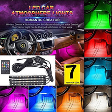 Load image into Gallery viewer, 📲🚗💡4x LED Strip Light Lamp Car Interior Decorative Strip Lights 12LED Bulb Each 12V+ Remote Control