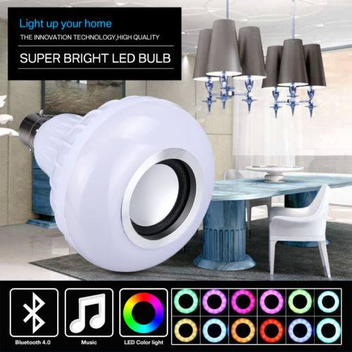 12W LED RGB Bluetooth Music Speaker Bulb Wireless Play Party Light Lamp AU