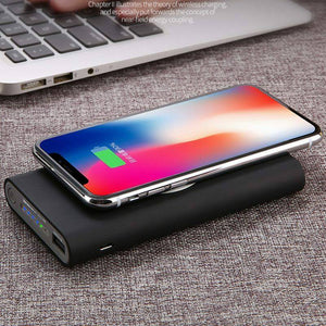 New Qi Wireless Power Bank 10000mAh iPhone X 8 8Plus XS XR Samsung 8 8+ 9 9+ Note 7 8