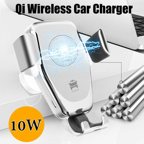 New 10W Qi Wireless Charger Car Stand Fast Charging Universal For Wireless Charging iPhone Samsung