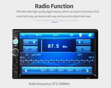 Load image into Gallery viewer, Brand New 7'' Double 2DIN Touch Car Stereo Radio MP5 MP3 Player Head Unit Bluetooth USB/FM