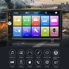 "Load image into Gallery viewer, 2019 Bluetooth 7"" 2DIN Car Dash Headunit (Android Supported) USB Stereo Radio Music Player MP5 Player"