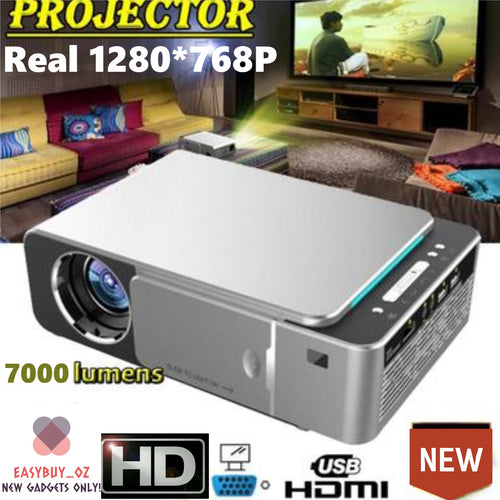 🌟New Arrived🌟Real HD Projector with 1280*768P Support SD HDMI USB for Home Cinema VGA Projector