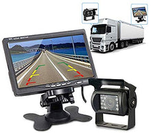 "Load image into Gallery viewer, 7"" Big Screen+Reversing Cam: With 7"" big screen to show you the image from the camera, which provide better visual effects than 4.3""/3.5"" monitor."