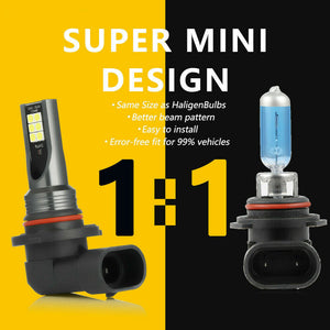 New 2PCs 9006 HB4 LED Headlight Bulb Kit Halogen Low Beam 6500K 48W 7600LM White Light