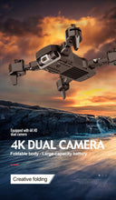 Load image into Gallery viewer, New Dual Camera Drone 4K 1080P Mini Folding Fixed Height Gesture Photo Aerial Remote Control