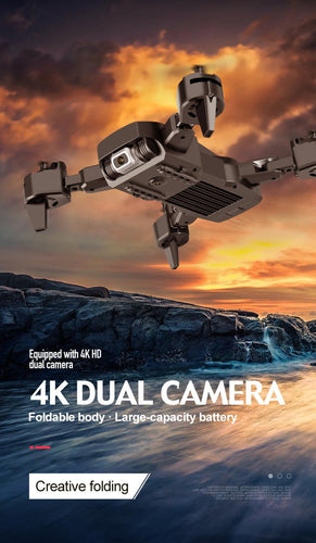 New Dual Camera Drone 4K 1080P Mini Folding Fixed Height Gesture Photo Aerial Remote Control