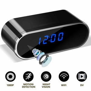 New Wifi Mini Camera Alarm Clock HD 1080P IP Security Wireless Motion