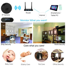 Load image into Gallery viewer, New Wifi Mini Camera Alarm Clock HD 1080P IP Security Wireless Motion
