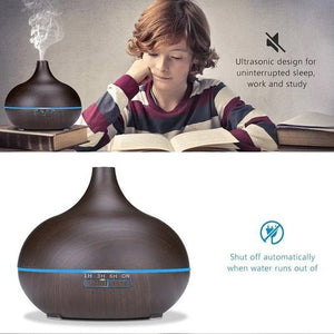 New 400 Ml Aroma Oil Diffuser Wood Electric Humidifier Ultrasonic Air Humidifier AU Plug