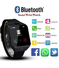 Load image into Gallery viewer, New Bluetooth Smart Watch Smartwatch Watch Phone Support TF Card with Camera for Android IOS IPhone Samsung LG Phones