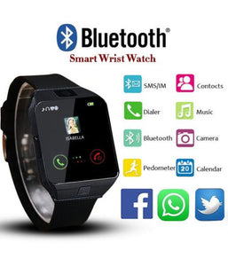 New Bluetooth Smart Watch Smartwatch Watch Phone Support TF Card with Camera for Android IOS IPhone Samsung LG Phones