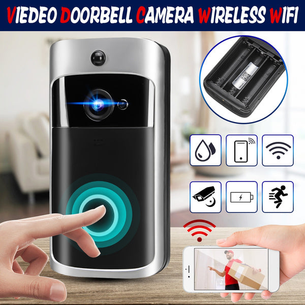 New Smart WiFi Wireless Doorbell + 3 x 18650 Rechargeable Batteries