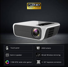 Load image into Gallery viewer, New T8 True Native HD 1920*1080P Projector Theater Wireless Phone Mirror Version Multimedia HDMI