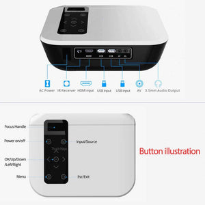 New T8 True Native HD 1920*1080P Projector Theater Wireless Phone Mirror Version Multimedia HDMI