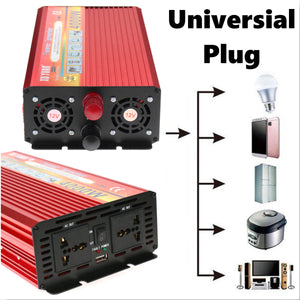 New 4000W Household Car Solar Power Inverter Converter Transformer Adapter Charger 12V DC Automatic Adaptable