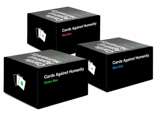 Cards Against Humanity All Expansion BOXES THREE SETS(Red, Blue, Green)