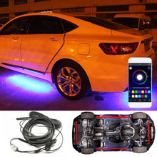 Load image into Gallery viewer, LED 4 In 1 12V Car Interior Decoration Lamp LED Automobile Chassis Lights Bar Neon Strip (2x 90cm + 2x 120cm)