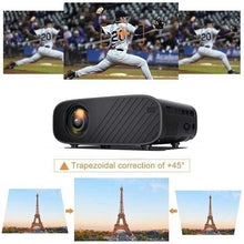 Load image into Gallery viewer, High-end Android 22000 Lumens Projector Listed Mini WiFi Mobile Phone Same Screen Projector 3D 1080P