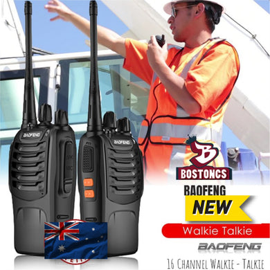 New 2 Baofeng BF-888S Walkie Talkie UHF 400-470MHZ 2-Way Ham Radio 16CH 5km Range AU