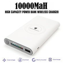 Load image into Gallery viewer, 10000mAh Qi wireless Power Bank Emergency Battery wireless charging power banks Portable powerbank