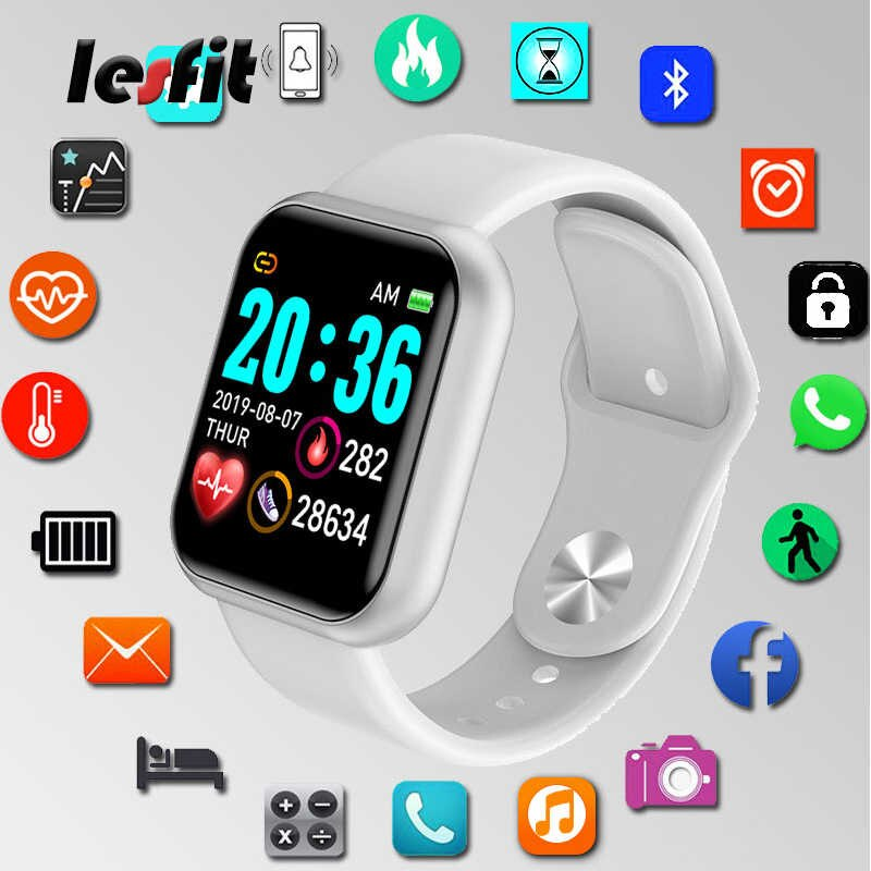 New Smart Watch Sports Wristband Waterproof Blood Pressure Heart Rate Monitor Step