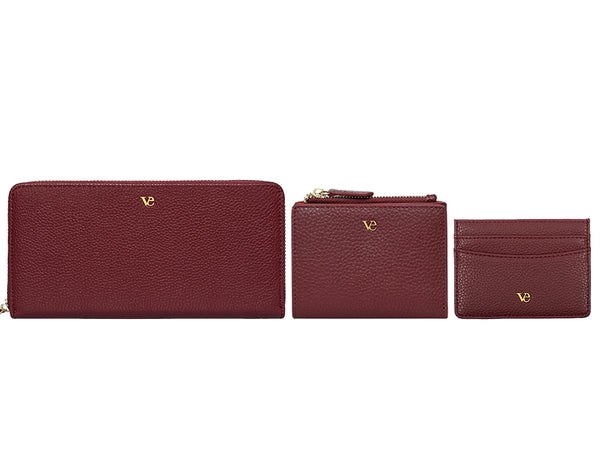 Wallet Essentials in Velvet Red