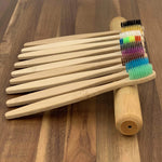 EcoBrushEarth™ Bamboo Travel Tube Toothbrush Combo