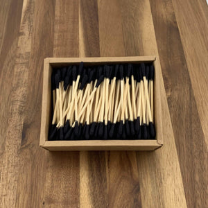 EcoBrushEarth™ Black Bamboo Cotton Buds - 200 Buds