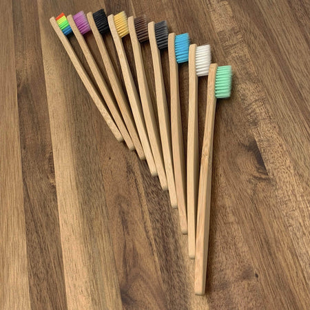 EcoBrushEarth™ Bundle of 10 - Purple Classic Handle Brush Bundle of 10 - Soft