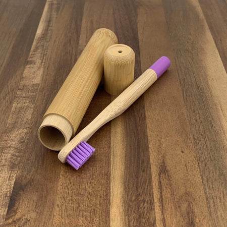 EcoBrushEarth™ bamboo Tube Kids Bamboo Travel Tube Toothbrush Combo