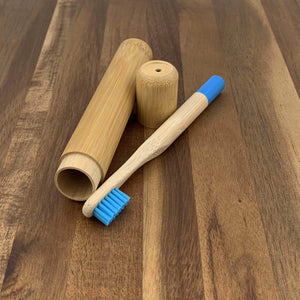 EcoBrushEarth™ Kids Bamboo Travel Tube Toothbrush Combo