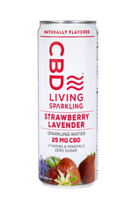 CBD Living | Sparkling Water | Strawberry Lavender