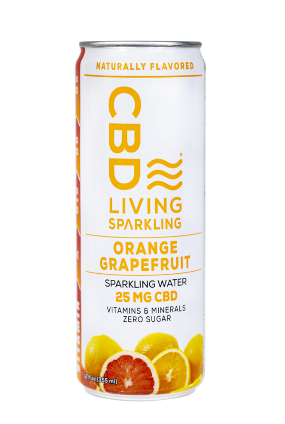 CBD Living | Sparkling Water | Orange Grapefruit