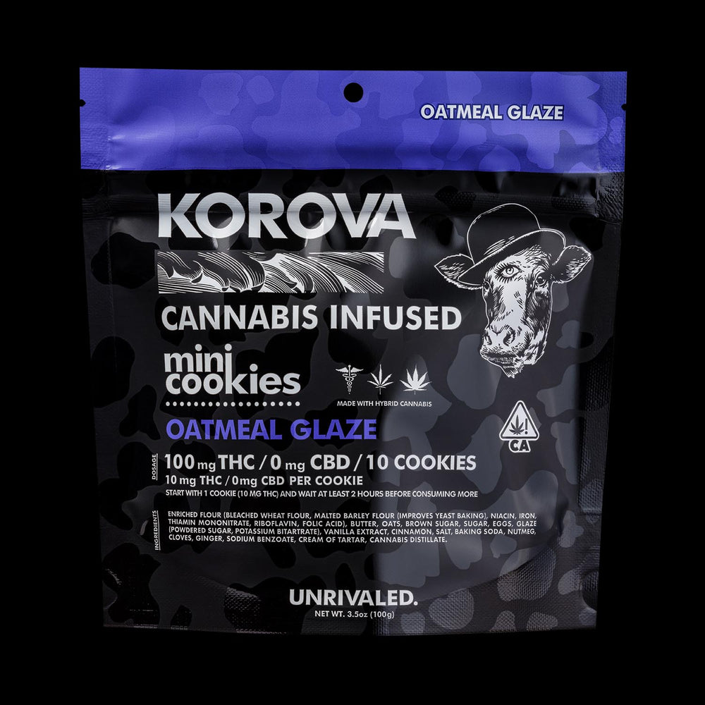 Korova | Mini Cookies | Oatmeal Glaze