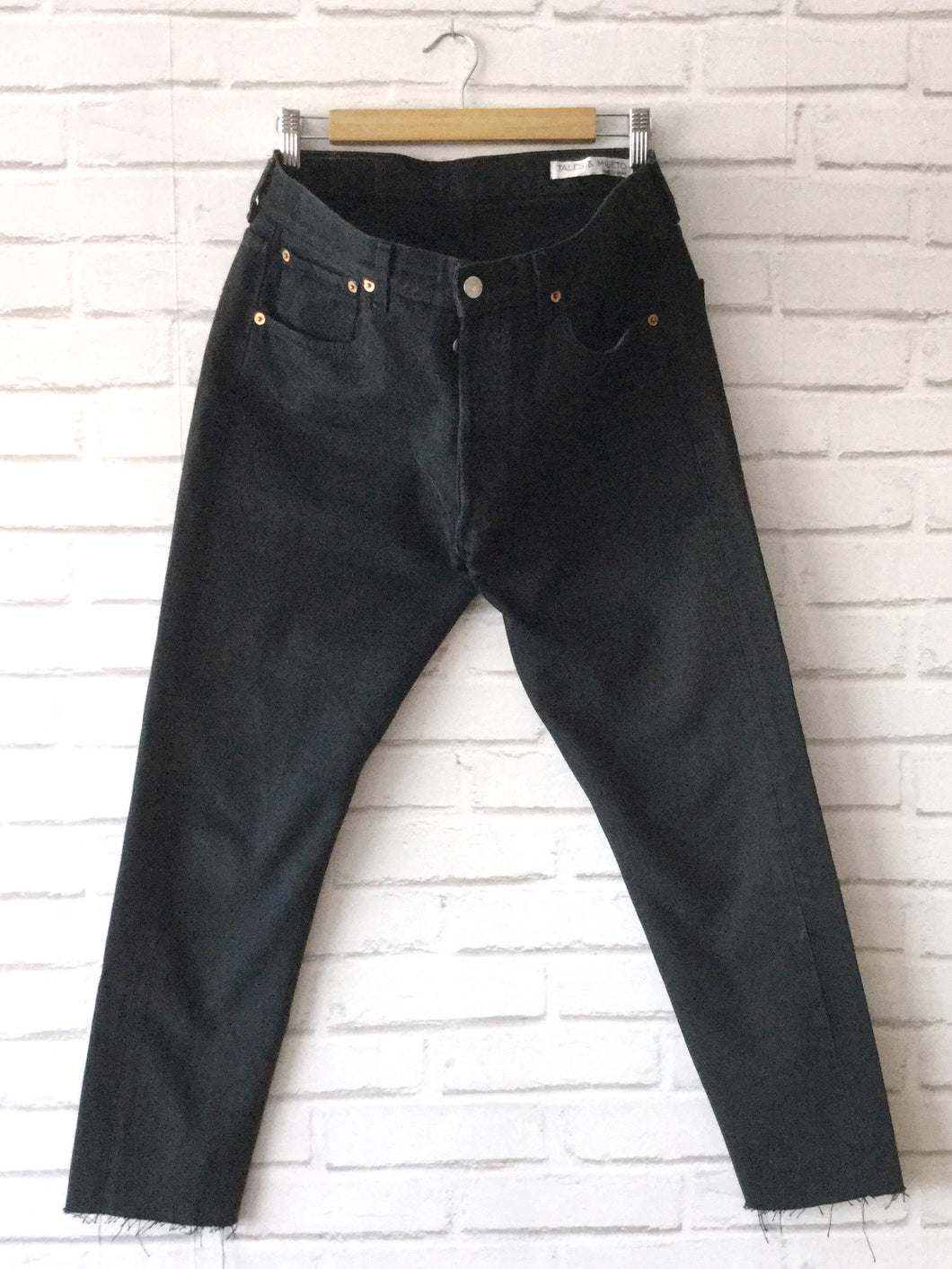 Reworked Levis 501 - Black