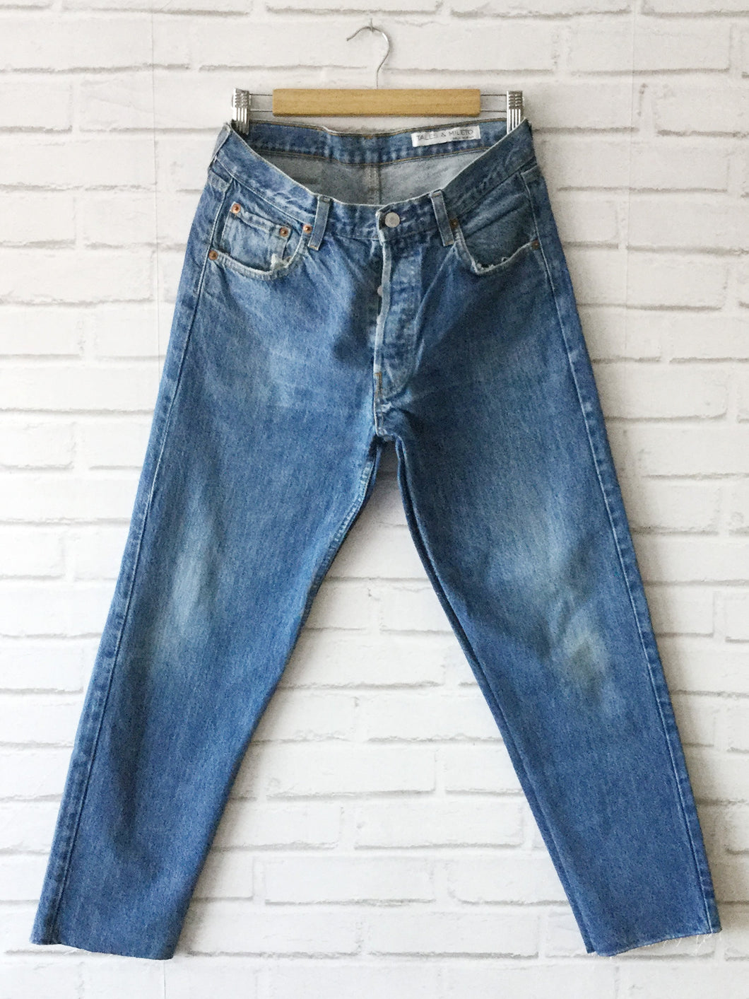 Reworked Levis 501 - Washed Blue