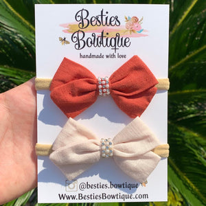 "Set of Two 3"" Bows"