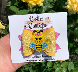 "Busy Bee 3.5"" Bow"