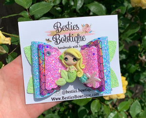 "Pastels Mermaid 4.5"" Bow"