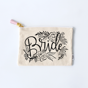 bride zippered pouch