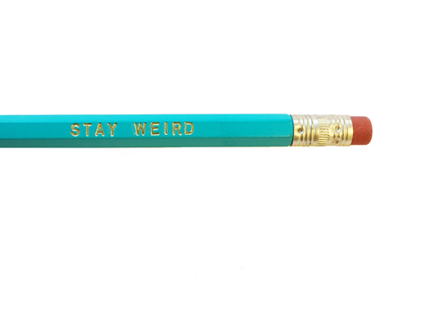 rhubarb paper co. - stay weird pencil